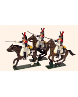 0741 Toy Soldiers Set French Cuirassiers Painted
