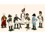 746 Toy Soldiers Set Napoleons Headquarters Painted