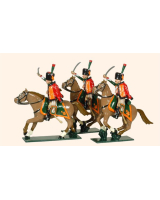 0759 Toy Soldiers Set French Chasseurs a Cheval de la Garde Painted