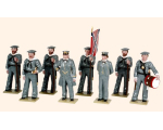 907 Toy Soldiers Set The Confederate Navies at attention Painted