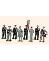 0907 Toy Soldiers Set The Confederate Navies at attention Painted