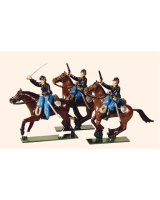 0915 Toy Soldiers Set Union Cavalry Three Troopers charging Painted
