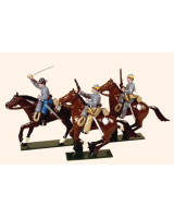 0917 Toy Soldiers Set Confederate Cavalry Three Troopers Painted