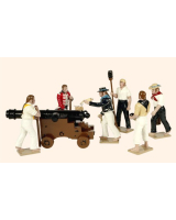 0093 Toy Soldiers Set A Gun Crew of HMS Victory Painted