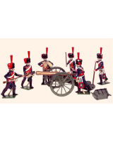 N3A Toy Soldiers Set French Horse Artillery Painted