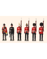 Trad 3 Toy Soldiers Set Scottish Regiments 1895 Painted