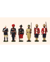 Trad 2 Toy Soldiers Set Types of the Indian Army Painted
