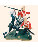 VG90 06 Rorkes Drift 1879 A Zulu Warrior and two Privates of the 24th Regiment of Foot Painted